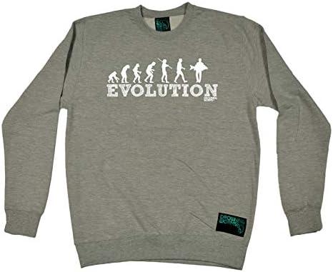 Evolution Carp Fish Fishing Sweatshirt Funny Novelty Jumper Top
