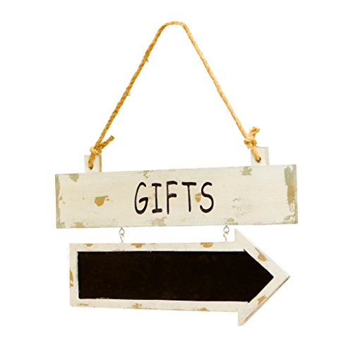 GIFTS - Wooden Sign with Attached Chalkboard Arrow by VIP Home & Garden