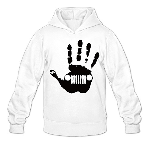 Jeep Wave Renegade Wrangler Liberty Classic Men's Hooded Hoodies White L ()