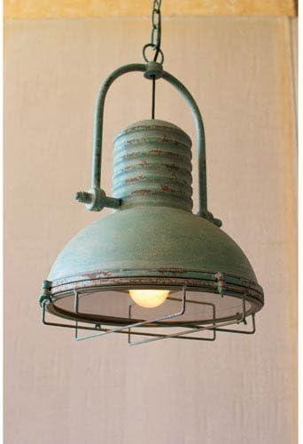 Kalalou Antique Turquoise Pendant Light One Size Green CLA1098