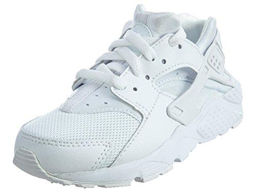 6d35576d4a3 Nike Huarache Little Kids Running Shoes White Pure Platinum 704949-110 (3 M  US)
