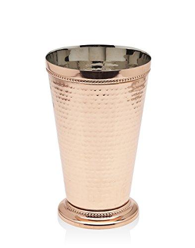 "Godinger Hammered Beaded Mint Julep Cup, 6.25"", Copper"