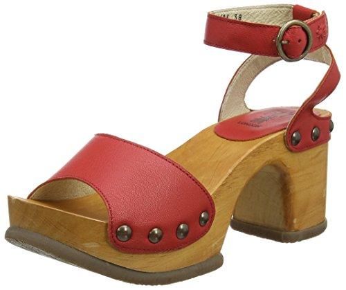 tulipunainen Romy996fly 001 London Punainen Fly Naisten Korkokengät Sandaalit p8wzzYZ