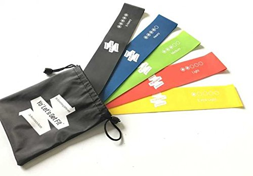 "Exercise Resistance Loop Bands – Set of 5, 12"" by 2"" Workout Bands – Best for Yoga, Pilates, Physical Therapy and Home Fitness – Instructional Booklet with a Free Handy Carry Bag. Review"