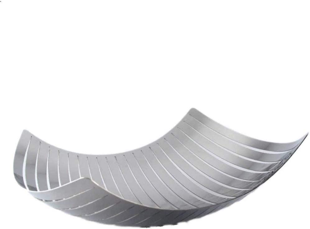 zaizai Fruit Bowl Basket - Stainless Steel Wire Design with Modern Styling - Decorative Countertop Centerpiece Eco-Friendly Food Trays