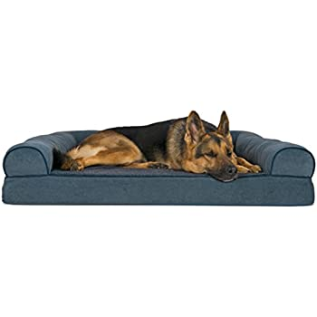 Amazon.com : Caddis Beasley's Couch Dog Bed PolySuede Tan