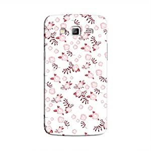 Cover It Up - Maroon Flower White Paper Samsung Galaxy J7 Hard Case