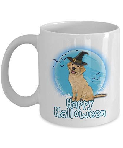 Happy Halloween Golden Retriever Mugs for Major Tea