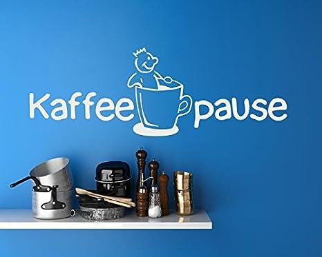 Adesivo per la cucina testo proverbi pausa caffè caffè x
