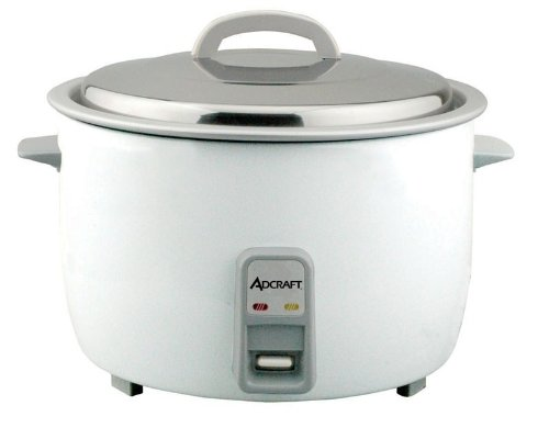 Adcraft Countertop Heavy Duty Rice Cooker with Stainless Steel Lid, 25 Cup Capacity -- 1 each.
