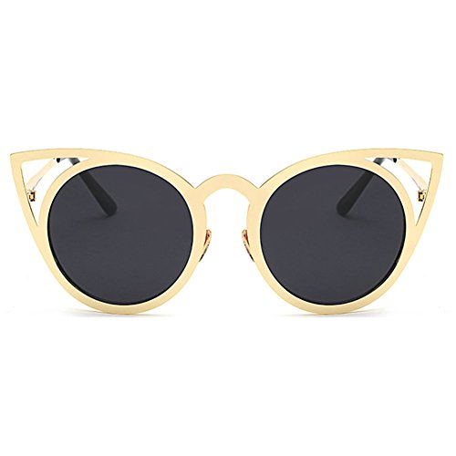 Cat 17 Frames Vintage Femme Mirror Shades Eye MEIHAOWEI Color Sunglasses Metal W1E7xqvTRY