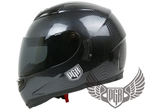 Amazon.com: PGR Dual Visor Full Face – Casco de motorista ...