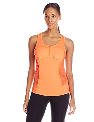 Betsey Johnson Outlet (Betsey Johnson Women's Zip Front Tank, Fusion Orange, X-Large)