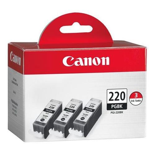 Canon PGI-220 Black Triple Pack Compatible to MP980, MP560, MP620, MP640, MP990, MX860, MX870, iP4600, iP3600, iP4700 from Canon