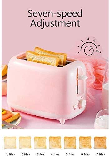 Mini Grille-Pain 2 Tranches Grille-Pain Petit Déjeuner Sandwich Machine De Cuisson Automatique Machine De Chauffage Rapide Appareil Ménager 600W Facile À Utiliser
