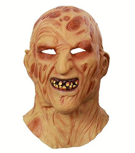 primerry Haunted House Escape Halloween Fire Face Carrion Strange Headgear Latex Mask