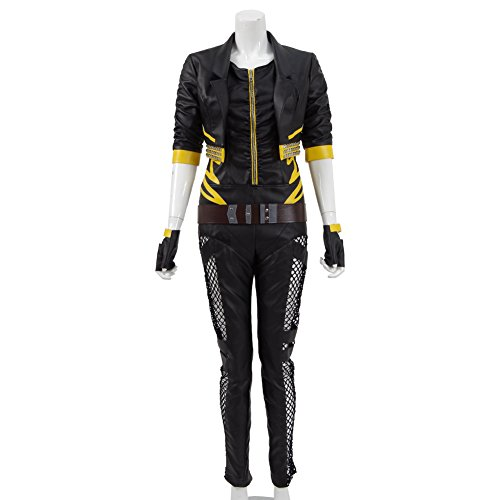 Women Leather Outwear Canary Cosplay Game Battle Outfit Halloween Costumes (L) by Expeke