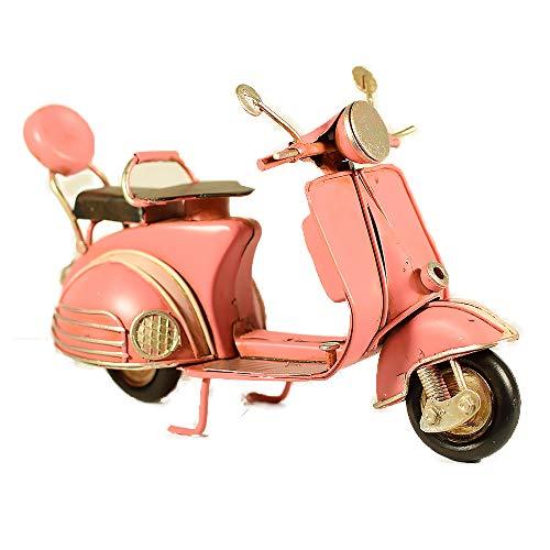 EliteTreasures Metal Pink Italian Scooter Vespa Model - Vintage Style Miniature - Decorative Collectible Retro Bike - Biker Gift