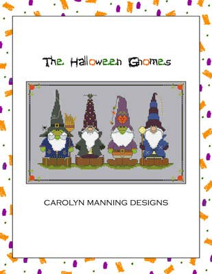 Halloween Gnomes Cross Stitch Chart
