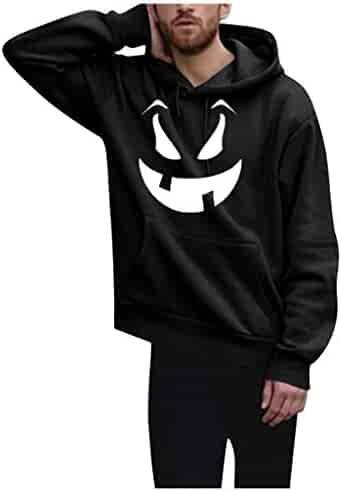 pujingge Men Fashion Vertical Stripes Slim Fit Long Sleeve Hooded Sweatshirts