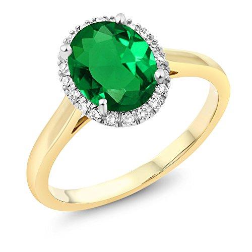 Yellow Gold Emerald Ring - 8