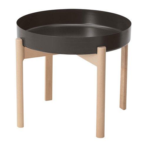 YPPERLIG コーヒーテーブル, ダークグレー, バーチ 503.468.67 B07BTR5L99