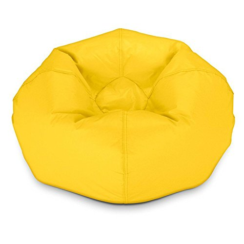 Yellow Vinyl Bean Bag - 7