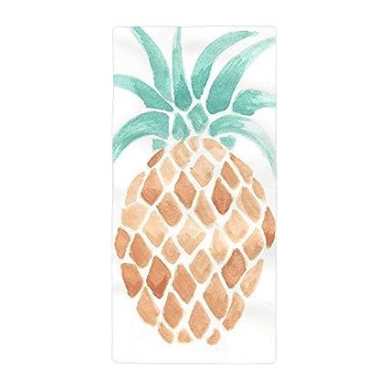 warrantyll personalizada una pintura piña de grosor suave microfibra toalla de playa (50 * 100