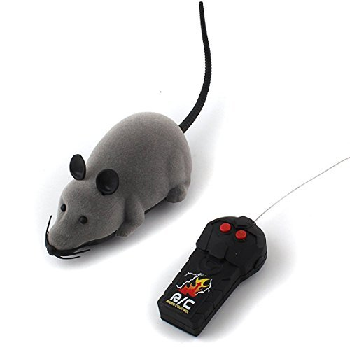 Forum Novelties Rat Toy, PeachFYE RC Funny Wireless Electronic Remote Control Mouse Rat Pet Toy for Cats Dogs Pets Kids Novelty Gift