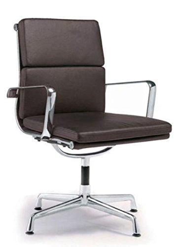 Director Soft Pad Office Chair With No Wheels - Brown ()