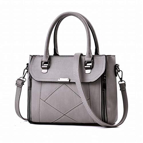 della della della donne chiusura delle Grigio Borsa messaggero tracolla Chiaro borsa Dimensione della Grigio borsa del lampo Moontang Colore a chiaro borsa qtXn7wZtxP