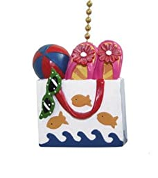 Beach Tote Sandals Flip Flops Fish Ceiling Fan Pull