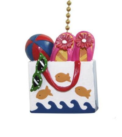 Beach Tote Sandals Flip Flops Fish Ceiling Fan Pull by Clementine (Fish Ceiling Fan Pull)