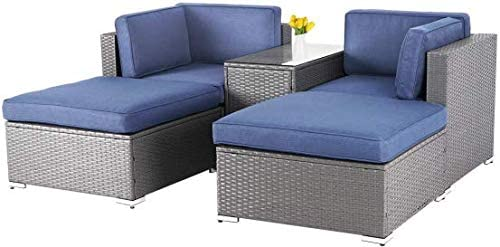 SOLAURA 5-Piece Outdoor Patio Furniture Set