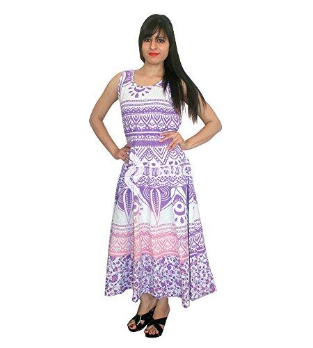 Vestido maxi de Bohemia Ombre bohemio púrpura sin mangas de baile de gala de noche vestido maxi