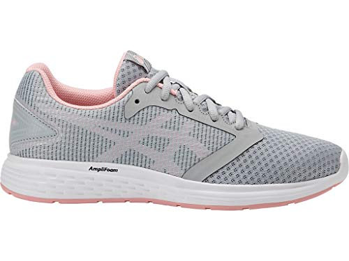 ASICS Women's Patriot 10 Running Shoes, 10.5M, MID Grey/Frosted Rose