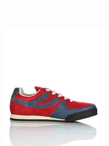Sneakers - 4431-pigsueu Red-Blue