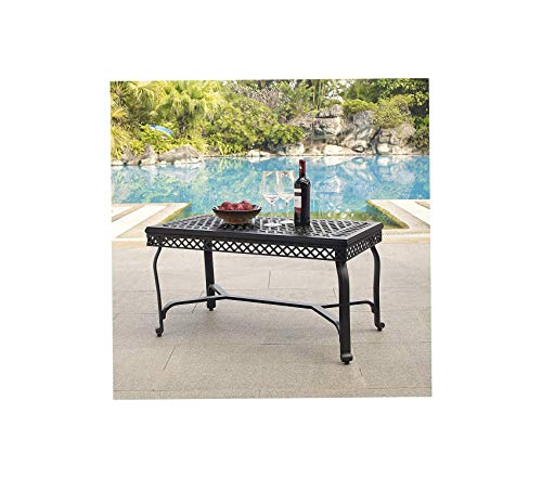 Crоslеy Furniturе Patio Outdoor Garden Premium Portofino Outdoor Aluminum Coffee Table - Black (Coffee Table Portofino)
