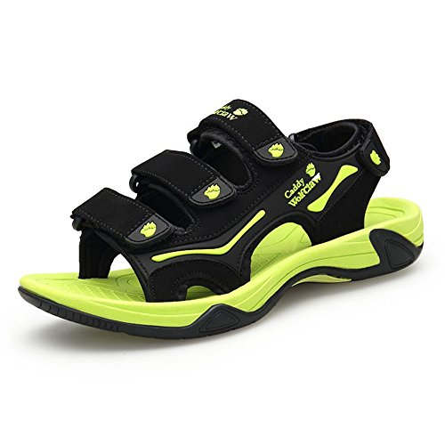 Estate Fresco Traspirante Color Escursioni Uomini Morbido Sandali Pantofole Sandali Velcro da Spiaggia Moda 1 Scarpe HUAHUA Casual 6qEwFtW