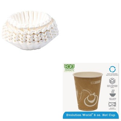 KITBUN1M5002ECOEPBRHC8EW - Value Kit - ECO-PRODUCTS,INC. Evolution World 24% PCF Hot Drink Cups (ECOEPBRHC8EW) and Bunn Coffee Commercial Coffee Filters (BUN1M5002)
