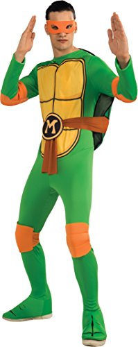 Nickelodeon Ninja Turtles Adult Michelangelo and Accessories, Green, x-large Costume (Ninja Turtle Michelangelo Costume)