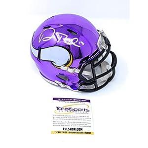 Adam Thielen Minnesota Vikings Signed Autograph Chrome Speed Mini Helmet Certified