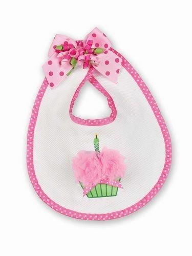 Bearington Baby Her 1st Birthday Outfit Bib With Cupcake, 10