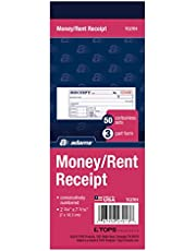 Adams Money and Rent Receipt Book, 2.75 x 7.19 Inch, 3-Part, Carbonless, 50 Sets, White and Canary and Pink (TC2701)
