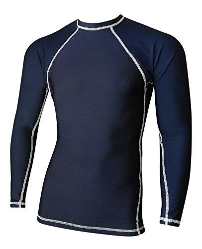 Rash Guard For Men Compression & Base Layer Shirt (Navy Blue, 5XL)