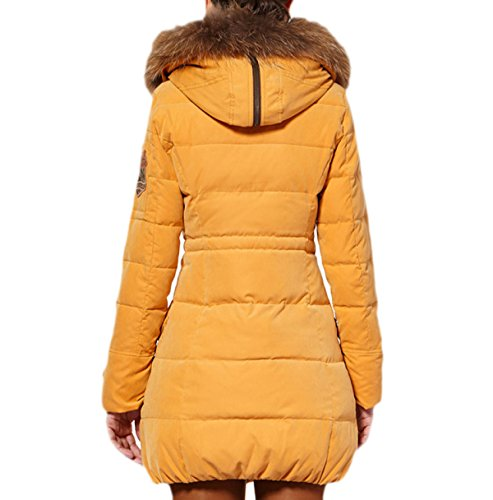 Sublevel Damen Wintermantel Mantel Winter Fur Collar Long Section Señora Chaqueta Winterparka 92486 A Abajo qfUd5qw