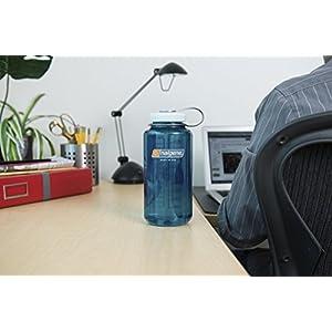 Nalgene Tritan Wide Mouth BPA-Free Water Bottle, Trout Green, 32-Ounces
