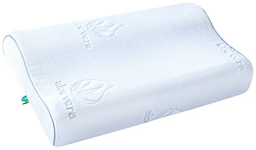 PharMeDoc Contour Memory Foam Pillow with Cooling Gel Technology - Size 23x13x4...