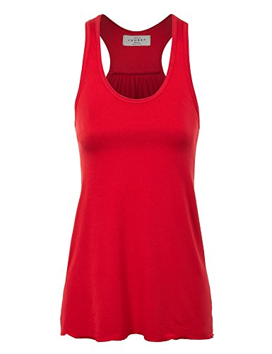 WT830 Womens Everyday Racer Tank XL RED_RAYON (Love Womens Tank Top)