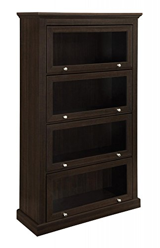 Door 4 Shelf Barrister Bookcase (Ameriwood Home Alton Alley 4 Shelf Barrister Bookcase, Espresso)